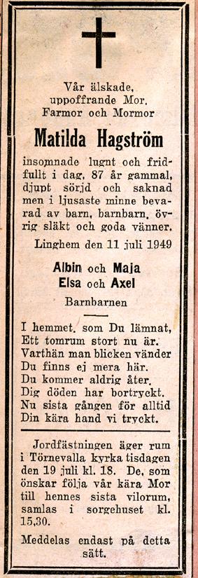 Nepetan från Linghem - Åkerbo församling